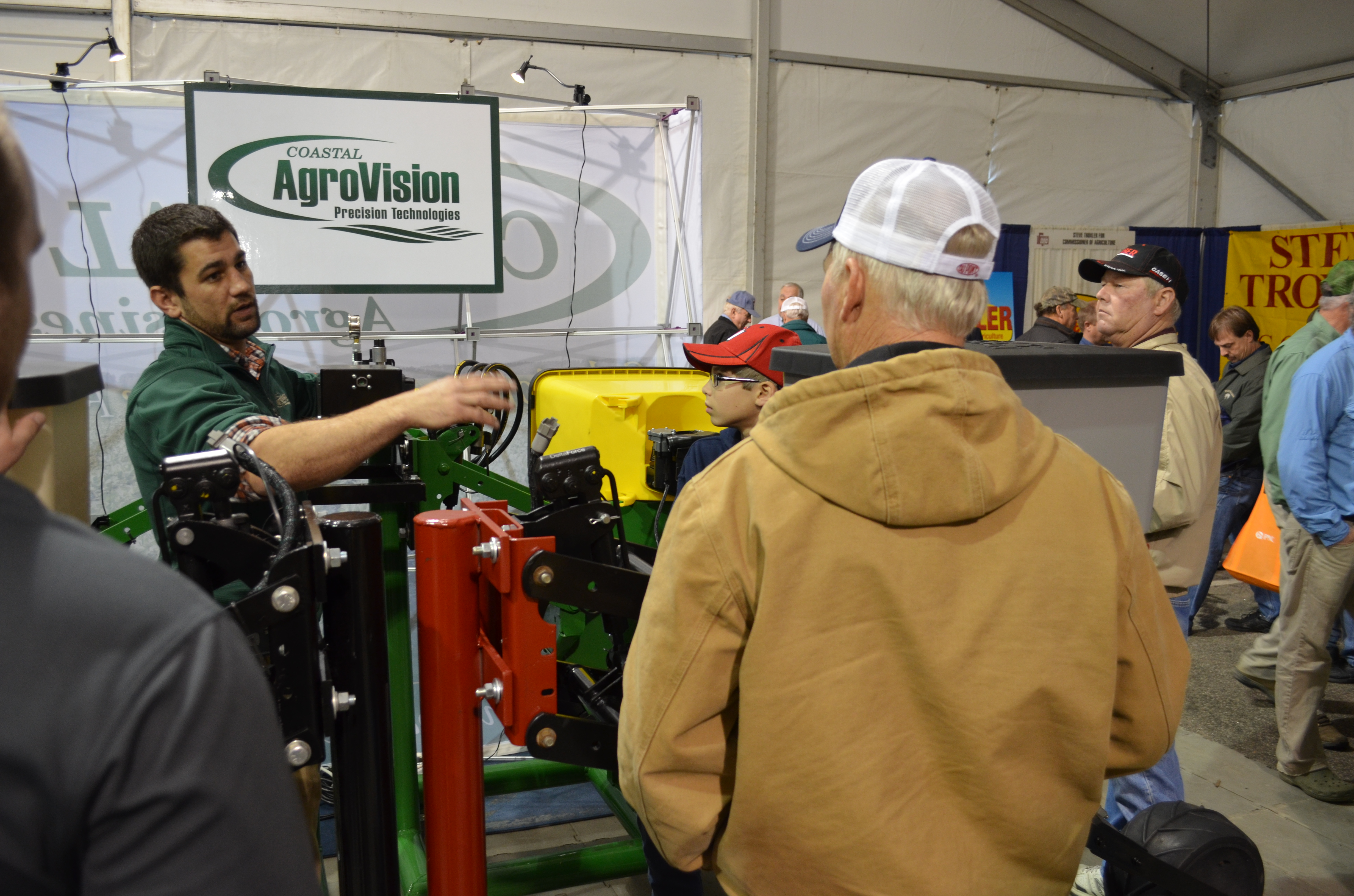 Tripp demonstrating AgroVision Precision equipment